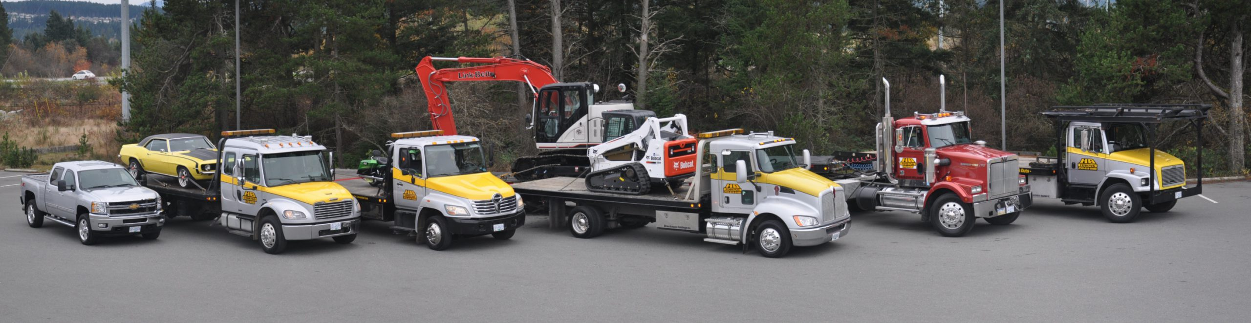 HB Towing fleet image. All Vehicles.