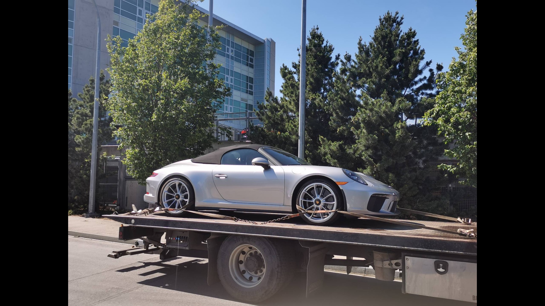 Exotic Car being towed